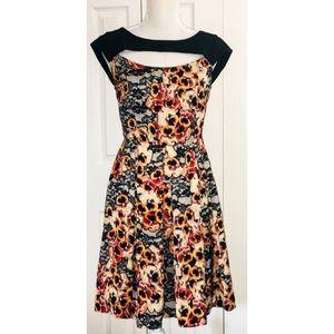 Anthropologie Eva Franco floral cutout midi dress